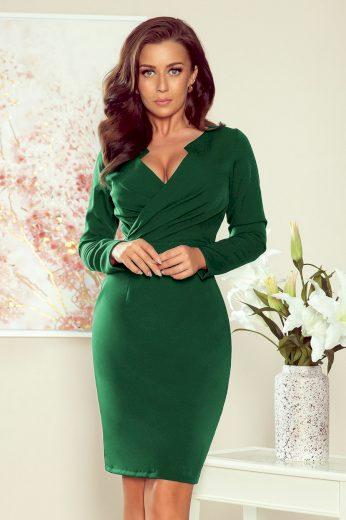Glara Elegantní dámské šaty v zavinovacím vzhledu 692253