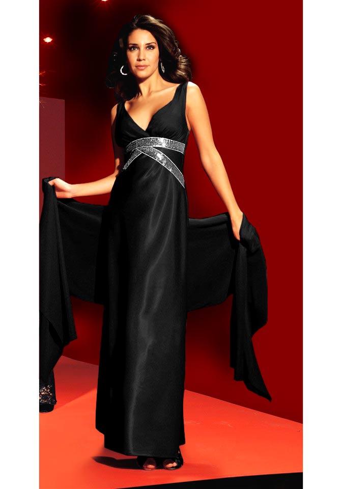 Laura Scott Evening Dlouhé společenské šaty černé