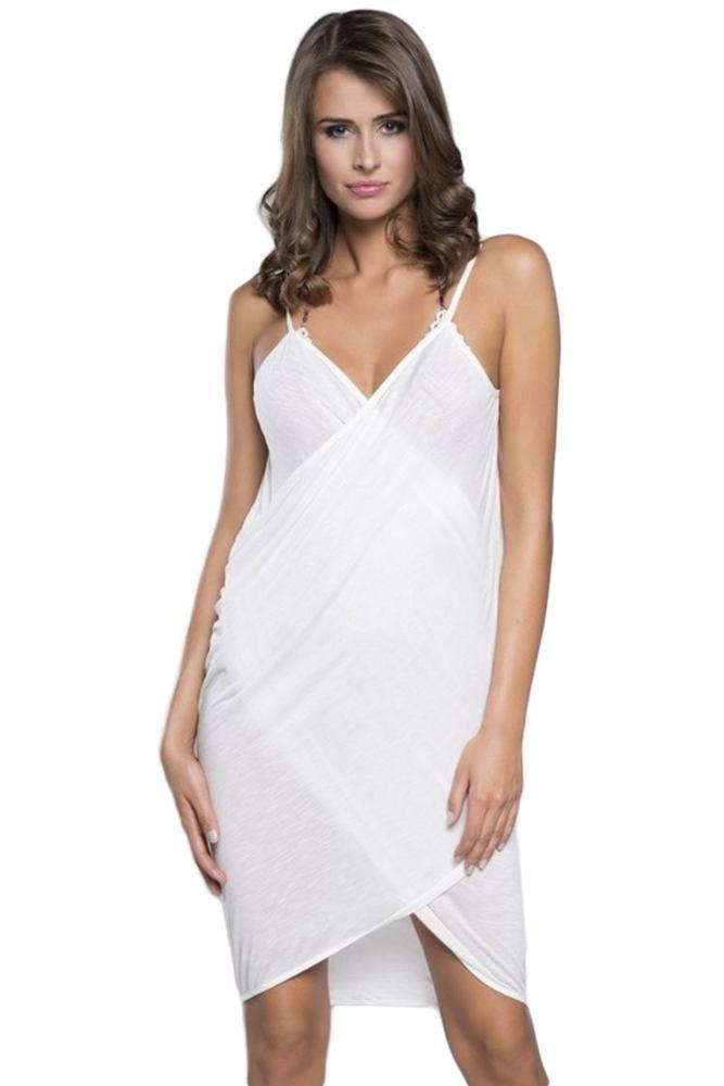 Italian Fashion Plážové šaty na ramínka ecru