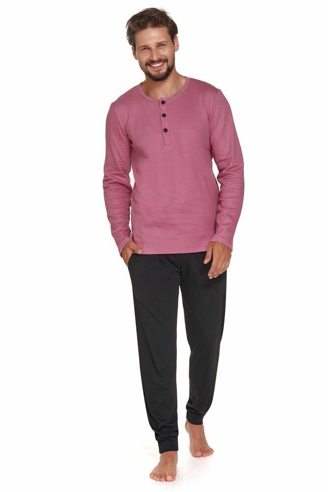 DN Nightwear Pánské pyžamo Dolce Vita růžové
