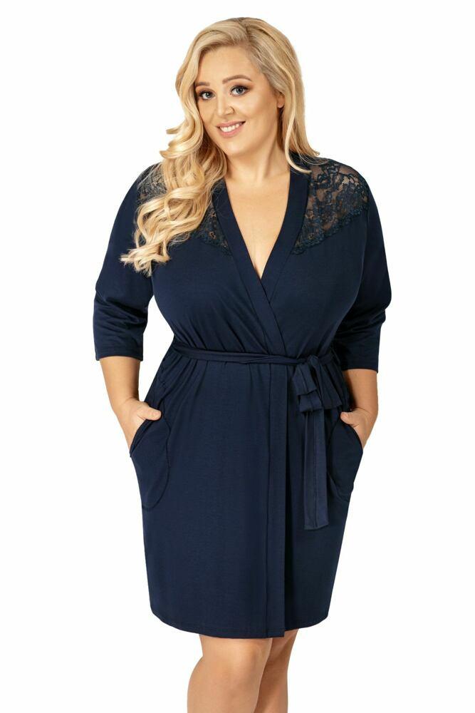 Donna Luxusní župan Tess tmavě modrý