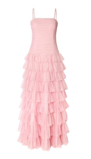 Apart Apart svatební šaty růžové, tylové plesové šaty Apart, Apart móda
