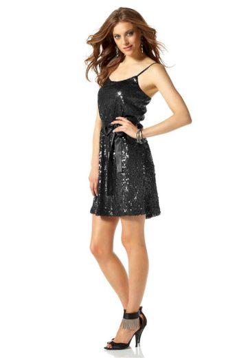 Laura Scott Evening Pajetkové dámské šaty, společenské šaty s flitry a úzkými ramínky LAURA SCOTT EVENING