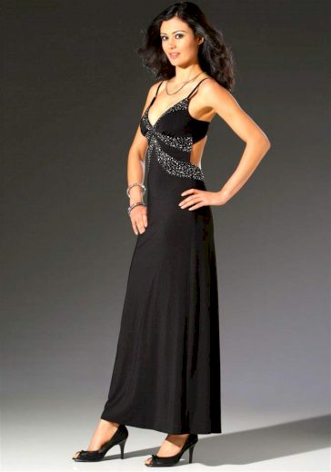 Laura Scott Evening DÁMSKÉ SPOLEČENSKÉ ŠATY SE ZADNÍM OTVOREM LAURA SCOTT EVENING, společenské šaty černé