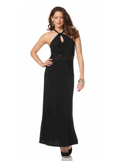 MELROSE DÁMSKÉ DLOUHÉ PLESOVÉ ŠATY MELROSE, dámské společenské šaty černé