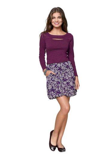 DÁMSKÁ BALONOVÁ MINI SUKNĚ, sukně fialová