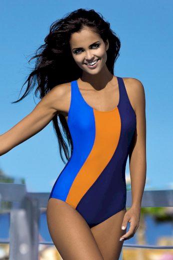 Lorin Dámské sportovní plavky Gita modrooranžové