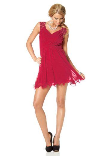 MELROSE DÁMSKÉ SPOLEČENSKÉ MINI ŠATY MELROSE, šaty červené