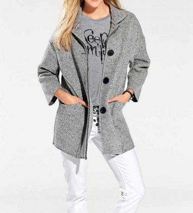 HEINE - BC VLNĚNÝ KABÁT HEINE - BC, kabát šedý