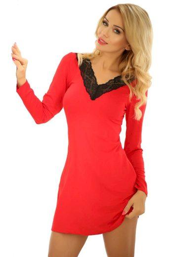 Kalimo Dámská viskózová noční košilka Paris červená