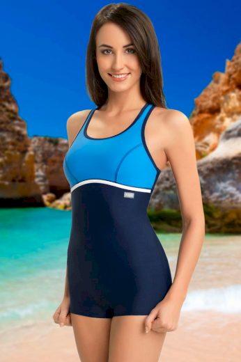 Winner Jednodílné sportovní plavky s nohavičkou Ines modré