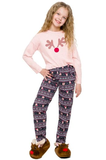 Taro Dívčí pyžamo Sofinka lososové sob