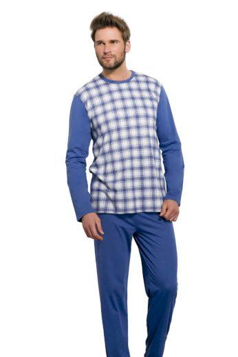 Taro Pánské pyžamo Roman VI káro šedé