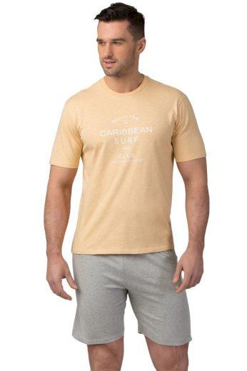 Rössli Pánské bavlněné pyžamo Matt žluté
