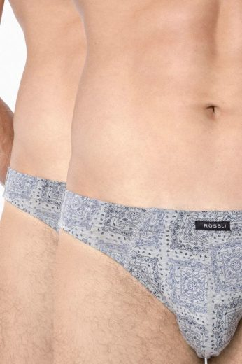 Rössli 2 pack slipy Jerry šedé se vzorem