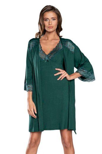 Italian Fashion Dámský župan Samaria zelený