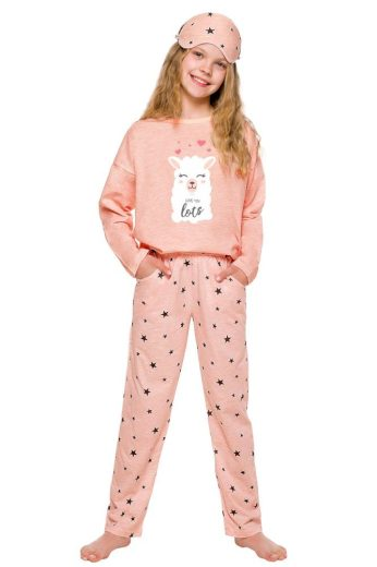 Taro Dívčí pyžamo Sofie růžové s lamou
