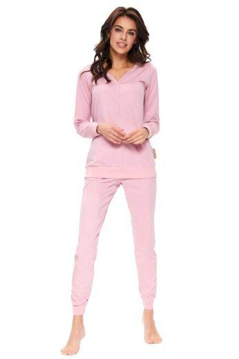 DN Nightwear Dámské pyžamo Flamingo organic růžové