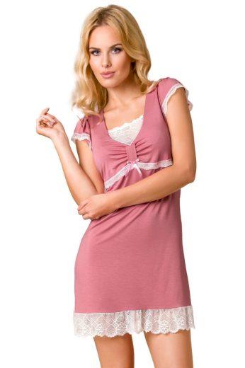 Passion Luxusní noční košilka Maddy růžová