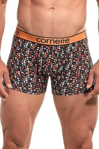 Cornette Pánské boxerky Emotion 50892 geometrický vzor