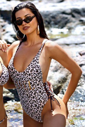 Lavel Jednodílné plavky Pamela gepardí vzor