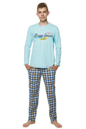 Taro Chlapecké pyžamo s nápisem Marián tyrkysové