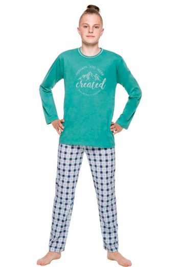 Taro Chlapecké pyžamo Leo zelené