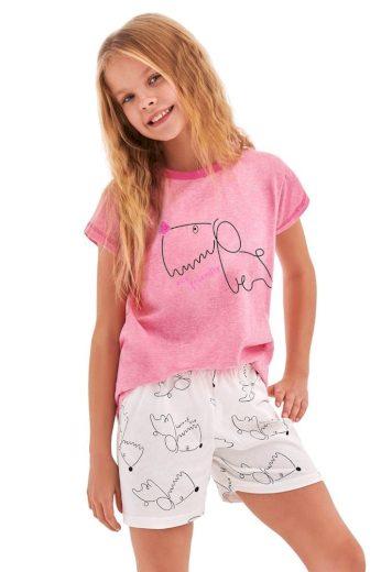 Taro Dívčí pyžamo Hanička růžové dog