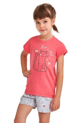 Taro Dívčí pyžamo Hanička růžové Lets chill