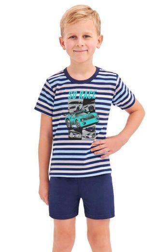 Taro Chlapecké pyžamo Max modré proužky