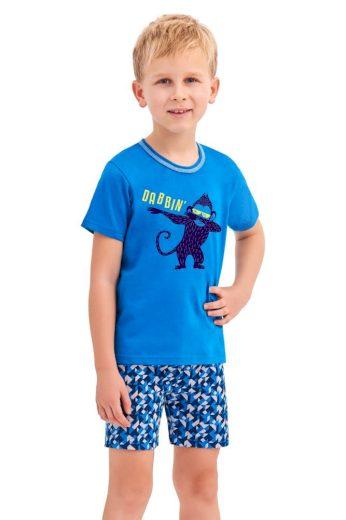 Taro Chlapecké pyžamo Damian modré opice