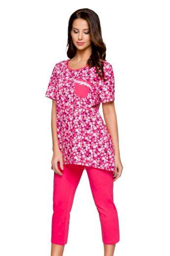 Regina Dámské pyžamo Darina malinové s květy