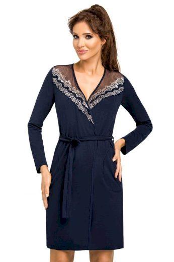 Donna Luxusní dámský župan Jasmine tmavě modrý