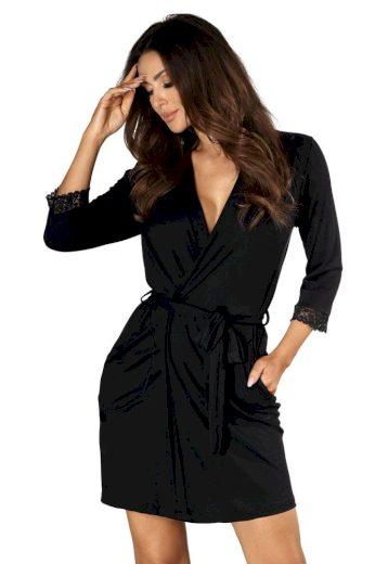 Donna Dámský luxusní župan Eleni černý