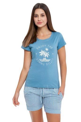 Luna Dámské pyžamo Alma modré