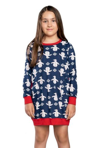Italian Fashion Dívčí noční košilka košilka Malika modrá
