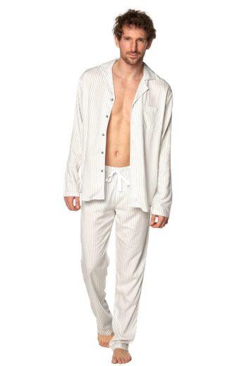 Rössli Klasické pánské pyžamo Alan pruhy