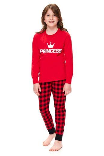 DN Nightwear Dívčí pyžamo Princess červené