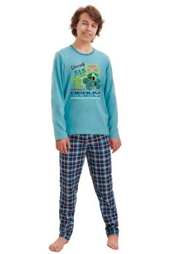 Taro Chlapecké pyžamo Leo cross modré
