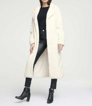 Aniston HEINE dámský kabát plyšový , kabát s umělou kožešinou