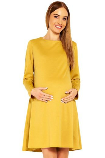 PeeKaBoo Těhotenské šaty Nathy okrové