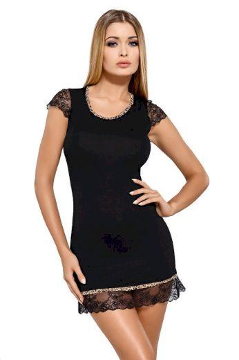 Hamana Luxusní viskózová košilka Roxy černá