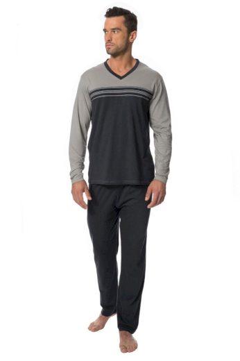 Rössli Pánské pyžamo Samuel šedé
