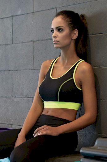 Lorin Fitness funkční podprsenka Gabi neon