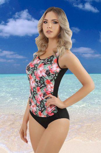 Zalewski Jednodílné dámské plavky Karlie černé s květy