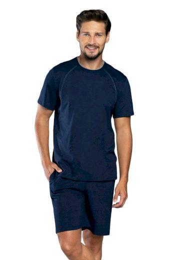 Italian Fashion Letní pánské pyžamo Niko tmavě modré