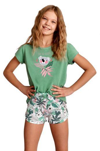 Taro Dívčí pyžamo Gabi zelené koala