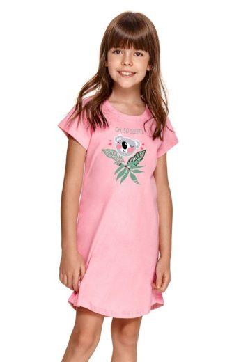 Taro Dívčí noční košilka Matylda růžová s koalou