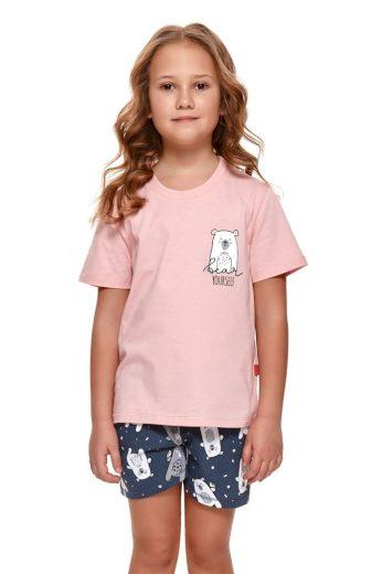 DN Nightwear Dívčí pyžamo Bear růžové