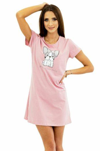 Kuba Dámská košilka Sweet Puppy růžová